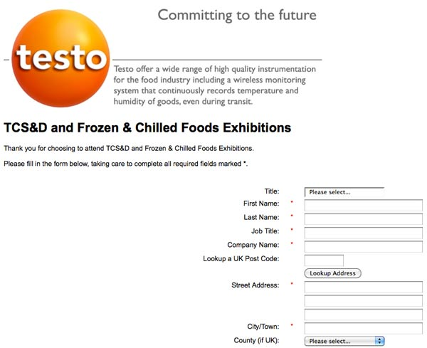 Testo iPad Competition Sign Up