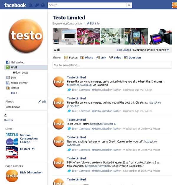 testo Limited Company Page