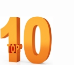 Top 10 winner 3d orange symbol isolated