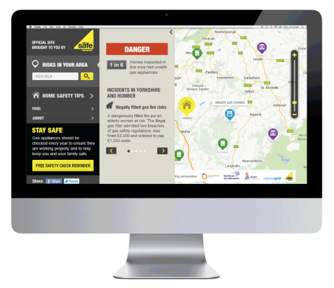Gas Safe Register: Gas Map