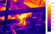 thermal imaging camera food processing pipework